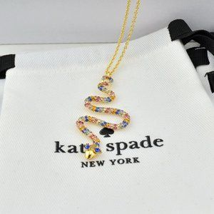 Kate Spade Full Diamond Snake Long Necklace